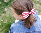 Red with White Stripe. Summer Sweets Barbecue Bow.