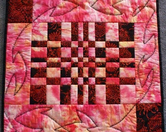 Quilted Wall Hanging Pink Fantasy