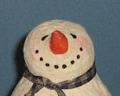 LITTLE JINGLE BELLS THE SNOWMAN primitive folk art sculpture