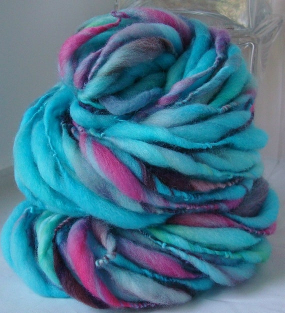 MULTICOLOR MYSTERY -- Handspun Yarn -- Thick and Thin