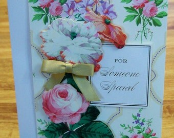 Handmade Card FOR SOMEONE SPECIAL Anna Griffin Design and Supplies  Vintage Look