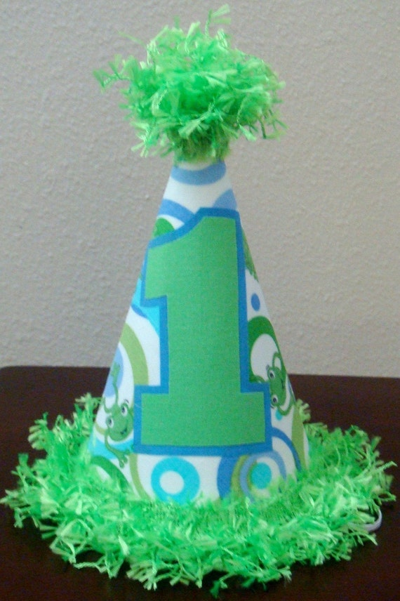 First Birthday Hat - Frogs - Any number available
