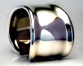 Silky Sterling Silver Cuff Bracelet.
