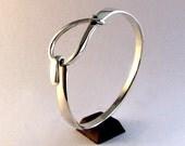 Sterling Silver Bracelet, Small Loop Latch Cuff