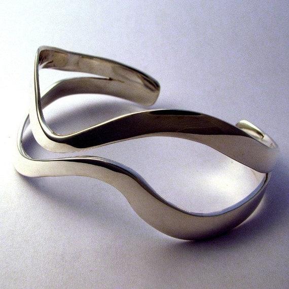 Sterling Cuff Bracelet, Sliding By