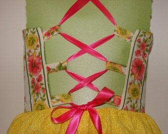 Bright Corset Dress...size 4-5