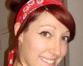 Bandana print headband