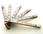 Measure Twice, Cut Once - Vintage Folding Ruler From Lufkin