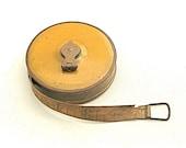 Measure in Mustard . . . Vintage Cloth Measuring Tape, Vintage Lufkin, 33 feet long