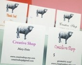 Printable - EdITABLE - SHEEP - Labels, Business Cards, Hang  or Price Tags, Gift Tags, Address Labels - You CHANGE the TEXT again and again