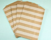 White Stripe Middy Bitty Bags - Set of 20 - Party Favor or Treat Bags