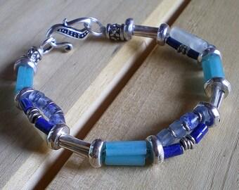 Winter Blues and Gemstone Bracelet