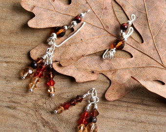 Crystal and Gemstone Earvine Ear Climber with Extension