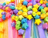 DIY Origami Lucky Stars - Choose your own Color Combo - Easy Instructions Included - 5 packs - 125 strips