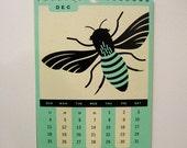 2011 Calendar - Mint on Ivory