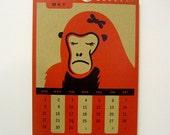 2011 Calendar - Red on Kraft