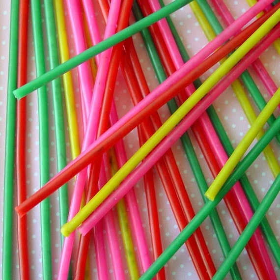 24 Tall and Skinny SPARKLER Birthday Candles red pink