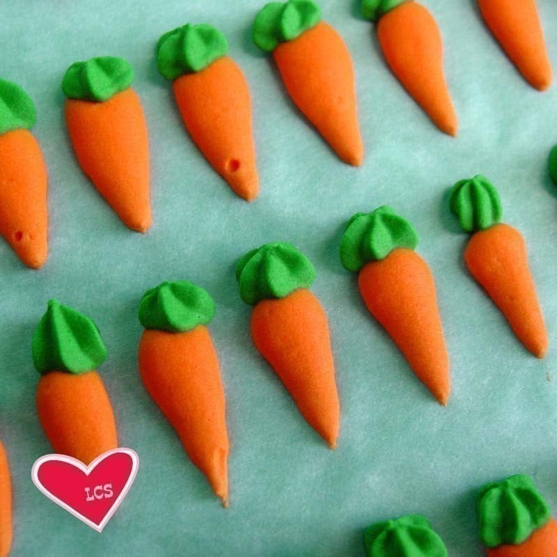 Carrot Shaped Cake Decorations
