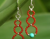 RESERVED FOR CHARLOTTE - Pyramid Coil Earrings