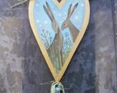 Sweet Nothings. Original Art On A Wooden Heart