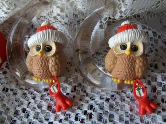 Vintage Owl Christmas Ornaments