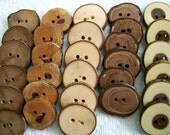 An Au Natural Assorted lot of 30 Large tree branch buttons....2 large holes....283