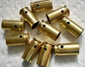 Drilled shell casings bullet pendants, Lot of 10 Brass 9mm casings Bullet Shell Casings drilled casings Pre-drilled bullets.....Lot 84