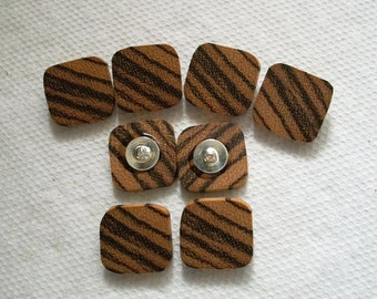 Wooden buttons wood buttons Exotic Zebrawood buttons sewing buttons crochet buttons cowl buttons back buttons....3/4 inch  Lot of 8....62