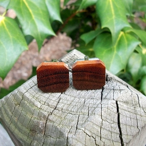Cufflinks....Cuff Link Set Handcrafted from Exotic Tigerwood