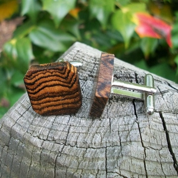 Cufflinks.....Cuff links Set Handcrafted from Exotic Bocote wood
