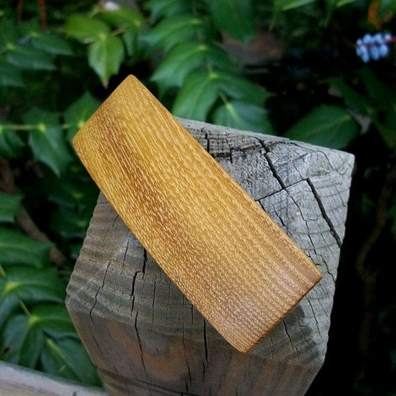 Hair Barette or Hair Clip Handcrafted from Osage Orange wood.....4