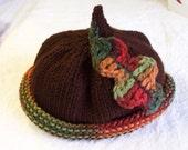 Hat Autumn Acorn Hat 6 -12 month size great Photo Prop as are my pumpkin punkin pumkin hats