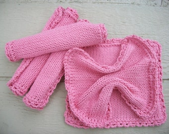 Earth Day special price Pure Cotton Knitted Dishcloths/Washcloths/Babycloths 5 for 12 dollars