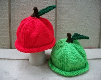 Apple Beanie Hats NewBorn Photo Prop also check out pumpkin hats link in listing
