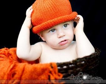 Pumpkin Hat newborn to 5 year halloween Photo Prop punkin orange pumkin hat