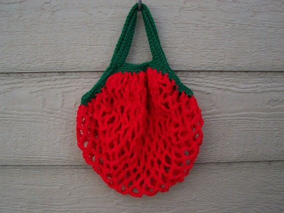 European style Market/Shopping Bags Handmade in USA HOT TOMATO