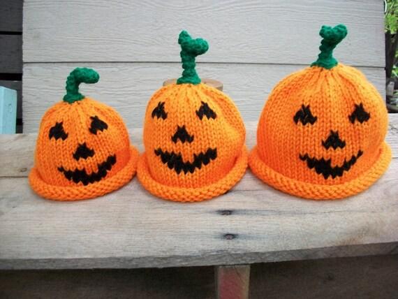 Jack O'Lantern Pumpkin Hat NewBorn thru 5 year  punkin hat photo prop hat pumkin hat Jack O Lantern halloween hat kids hat unisex hat