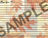 Recipe Cards - Fall Leaves Recipe Cards