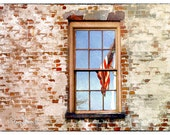 Reflection of Liberty (8x10 - Savannah - Flag - Liberty - Red Brick - Freedom - Red White Blue -  Wall Decor)