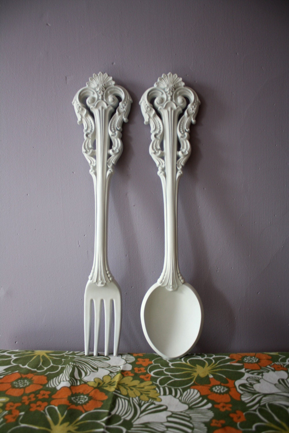 Giant Vintage Spoon Fork Wall Hanging Kitchen