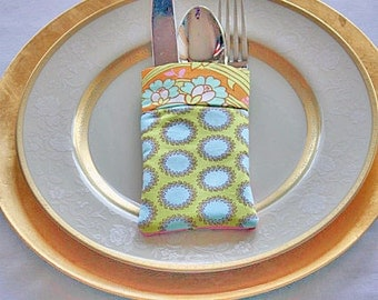 Utensil Silverware Holder Amy Butler Soul Blossoms Passion Fabric