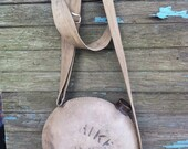 Vintage canvas water canteen