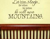 Let him sleep - Vinyl wall decal lettering art design
