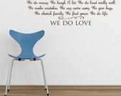 In this home - Vinyl Wall Decal lettering art quote design