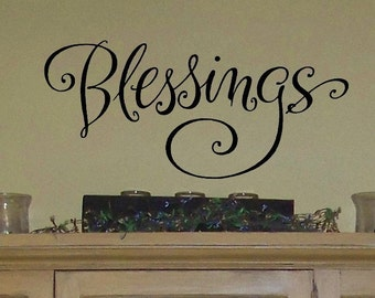 Blessings - vinyl wall graphic decal