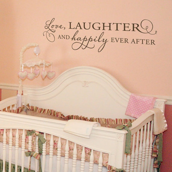 Love Laughter and Happily Ever After - Large Vinyl Wall Decal