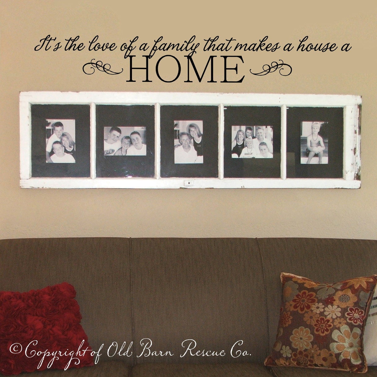 Love of a family wall decal custom color by for Living room quote stickers