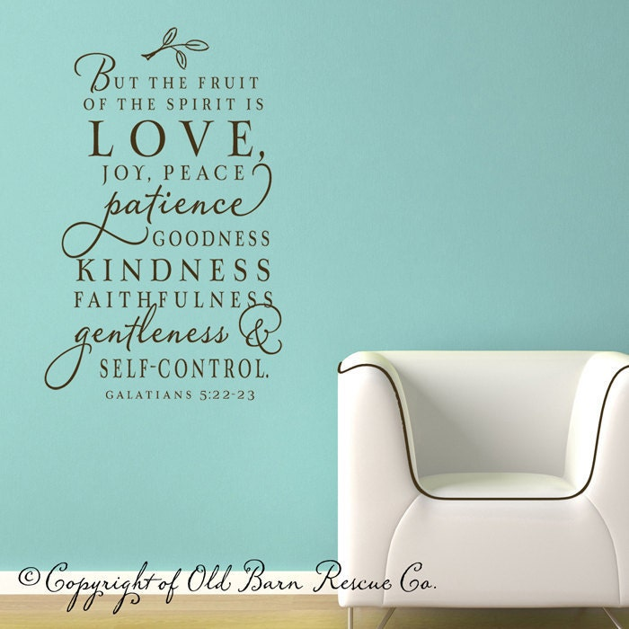 Sale The Fruit Of The Spirit Vinyl Wall Decal Scripture