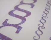Purple Floral Flourish Scroll Border Die cut Scrapbooks or Cardmaking Embellishments