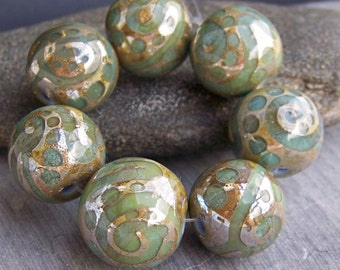 Made to order. MruMru Handmade Lampwork Glass Bead  set. Sra.